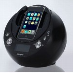Intempo Phono iPhone Speaker and Radio with Alarm Clock and Rotating Dock