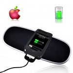 iPhone and iPod Wireless Charging Mat + Leather Case Holder