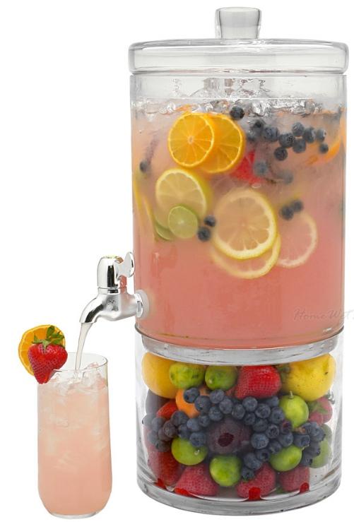 The adornment glass beverage dispenser - Plastic sangria glasses ...