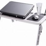 White/Black Laptop Table