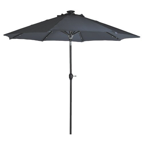 solar powered patio umbrella 24 led lights. Black Bedroom Furniture Sets. Home Design Ideas