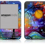 Winter Sparkle Design Protective Decal Skin Sticker for Amazon Kindle 3