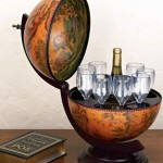 Tabletop 16th-century Italian Replica Globe Bar