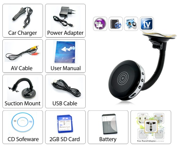 Car DVR with Motion Detection spy camera