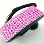 Pink Crystal Rhinestone Universal Bluetooth Earpiece Headset