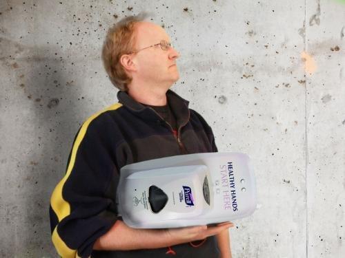 Custom Hand Sanitizer Monitoring Device