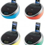 Color Changing Stereo FM Alarm Clock Radio for iPhone/ iPod®