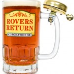 Rovers Return Pint Glass with Bell