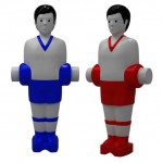 Table Football Salt and Pepper Shakers