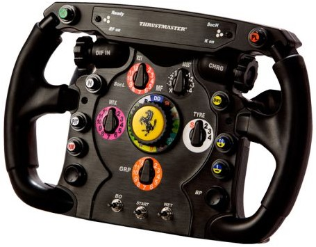 Ferrari F1 style wheel from Thrustmaster