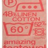 """Amazing"" Tea Towel Red"