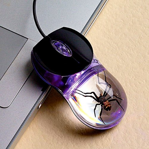Glow-In-The-Dark Spider Computer Mouse