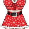 Apron Santa Girl Apron