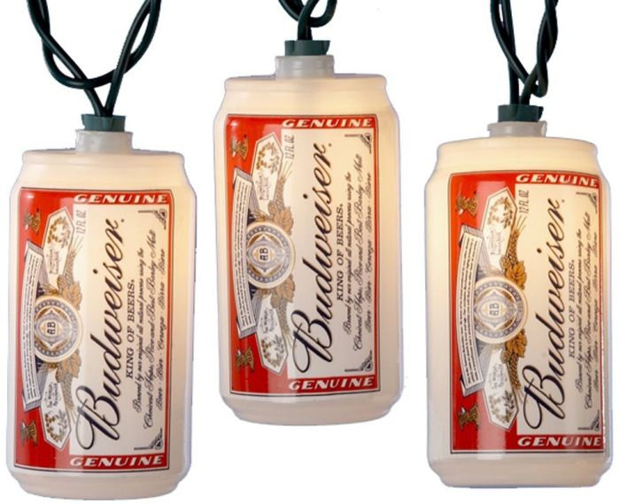 Kurt S. Adler 10-Light Plastic Blow Mold Budweiser Can Light Set