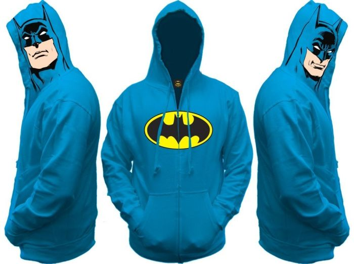 Batman All View Men Zip Hooded Sweatshirt