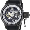 Invicta Men's 1091 Russian Diver Mechanical Skeleton Dial Black Polyurethane Watch