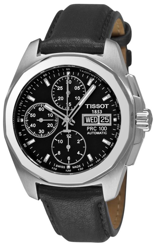 Tissot Men's T0084141605100 PRC 100 Black Chronograph Dial Watch