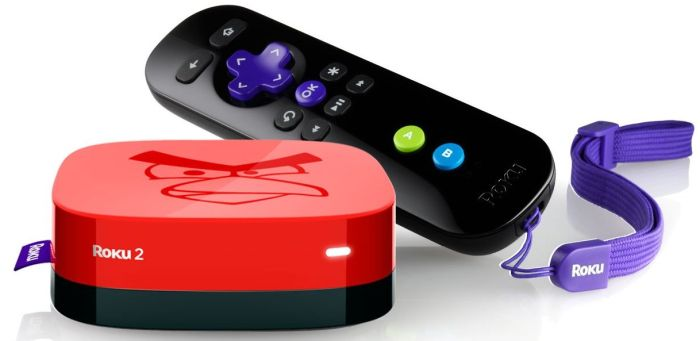 Roku 3100AB 1080p 2 XS Angry Birds Limited Edition Streaming Player