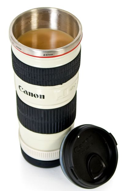 Canon Camera Lens Flask