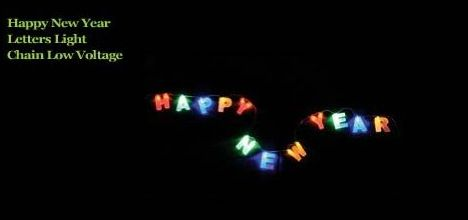 Happy New Year Frosted LED Light String