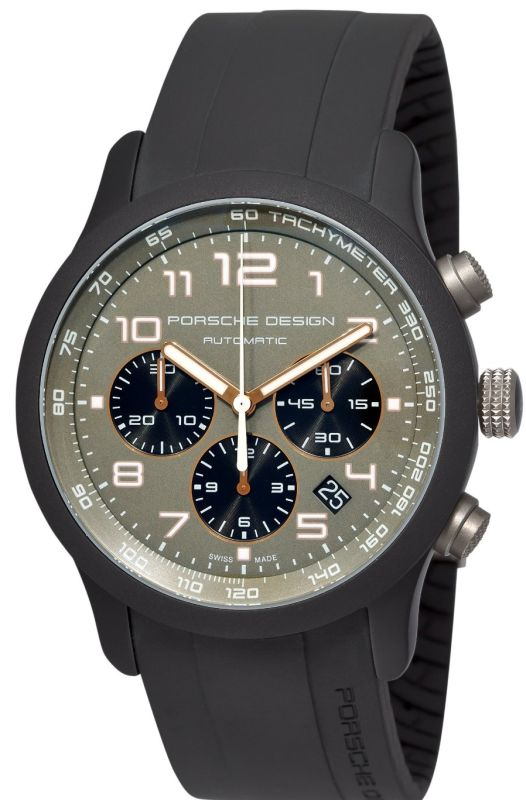 Porsche Design Men's 6612.17.56.1139 Dashboard P'6612 Titanium and Aluminum Green Dial Watch