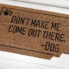 Funny Dog Bite Front Door Welcome Coir Mat