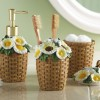 Daisy Woven Basket Bath Accessories