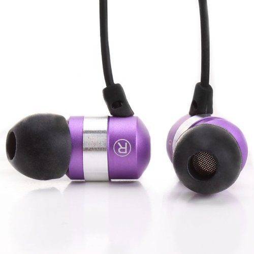 Ergonomic Metallic Purple Earbuds