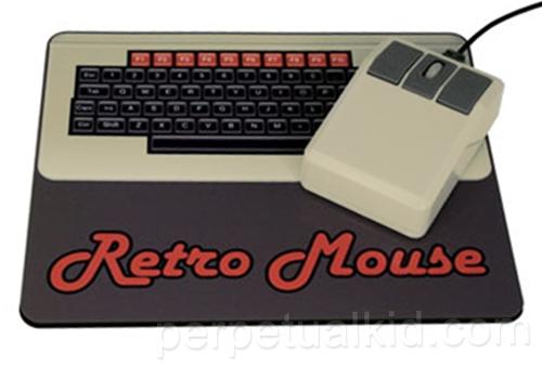 RETRO COMPUTER MOUSE & MOUSEPAD SET