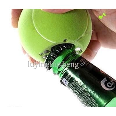 Beer Soda Musical Bottle Opener Fridge Message Magnet Tennis Ball