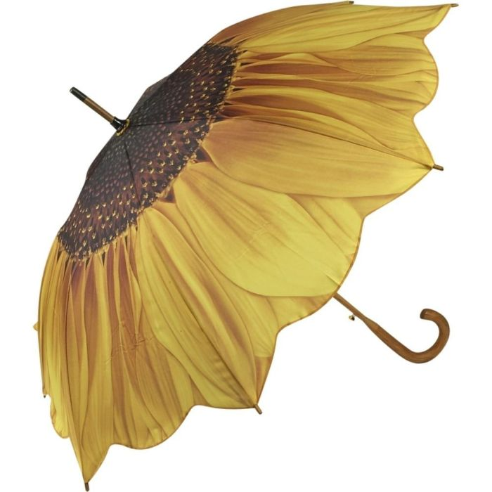Sunflower Bloom Stick Umbrella