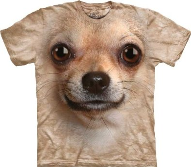 Chihuahua Face Dog Cream Men's Tee