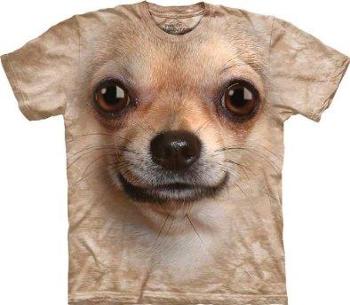 Chihuahua Face Dog Cream Men's Tee