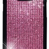 Samsung Galaxy S 2 II i9100 Novoskins Pink Crystal Chic Black Luxe Hard Case