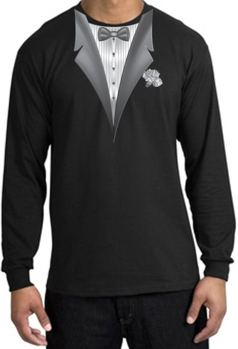 Tux Adult Long Sleeve T-Shirt
