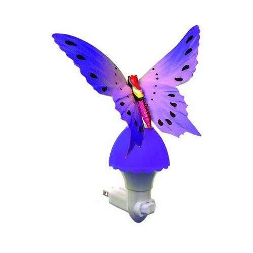 Fiber Butterfly Night Light in Purple