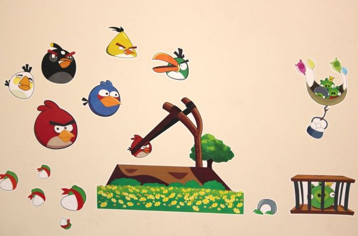Angry Birds Removable Wall Decals/Stickers