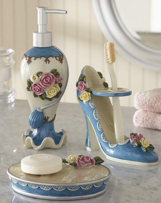 Victorian Rose Bath Accessories