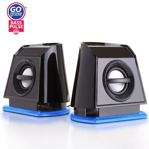 BassPULSE 2MX High-Fidelity USB Powered 2.0 Channel Computer Speakers