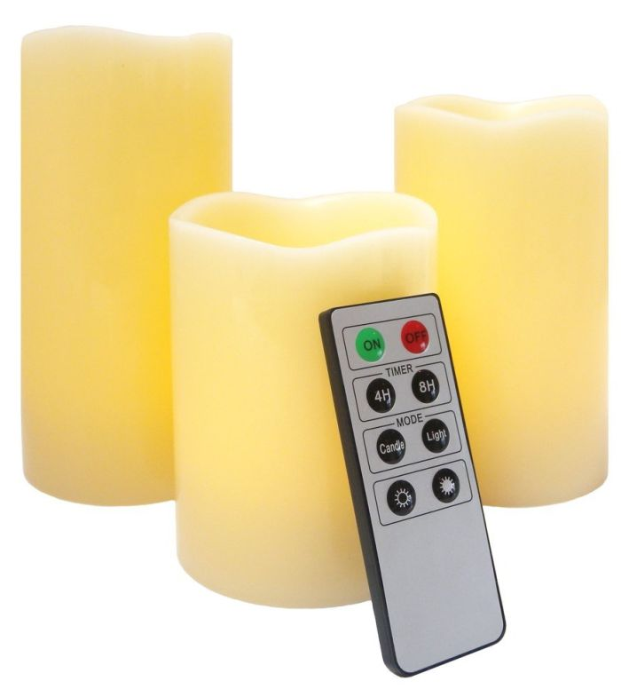 Wax Candles with Timer and Remote Control