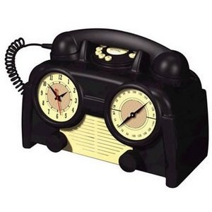 AM/FM Retro Clock Radio Phone