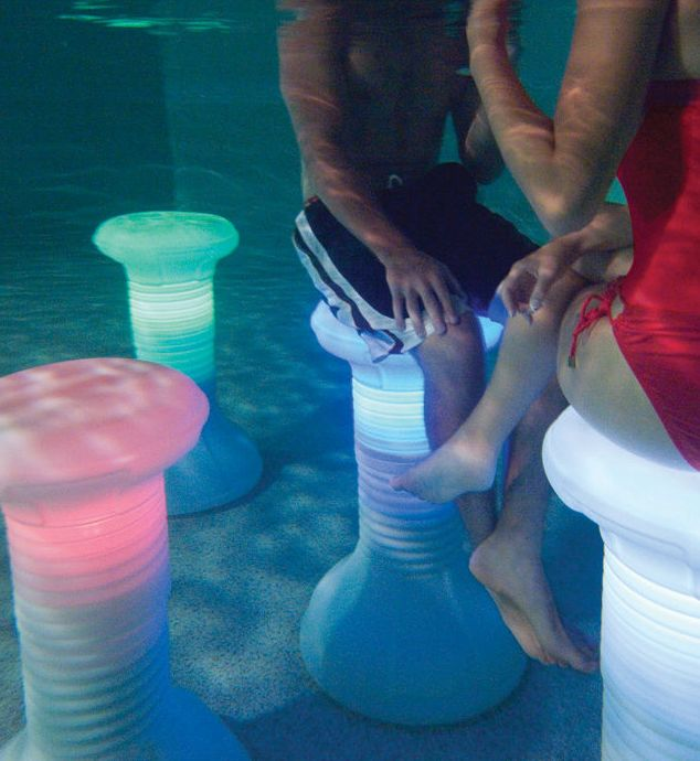 The Illuminated In Pool Barstool