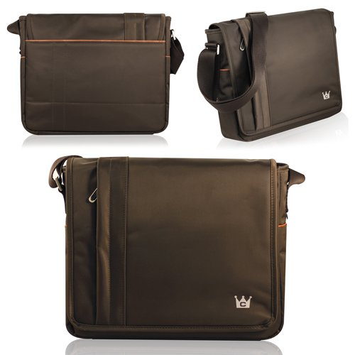 Horizontal Mobile Messenger Bag (Brown) for the new iPad / iPad 2 / iPad 3 / Amazon Kindle Fire