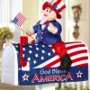 Uncle Sam 4th Of July Decoration Mailbox Cover