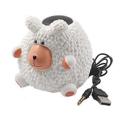 Sheep PC Laptop MP3 MP4 Color Changing Lamp Mini Speaker