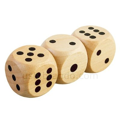 8 GB Cool Wooden Dices style USB Flash Drive