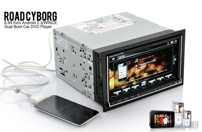 Road Cyborg - 6.95 Inch Android 2.3/WIN CE Dual-Boot Car DVD Player