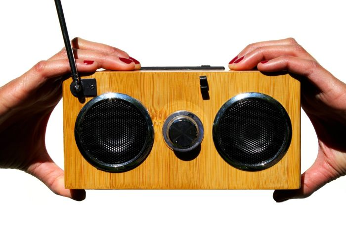 Mini Bamboo Wood Boombox / Personal Speaker