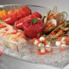 BUFFET ON ICE 4 COMPARTMENT VENTED FOOD TRAY