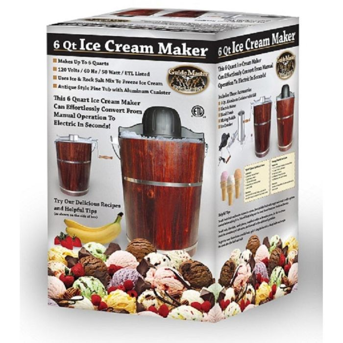 Ice Cream Maker Electric and Hand Crank Operation